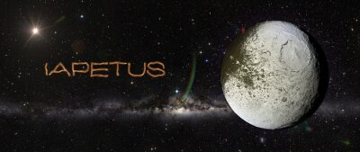 Sticker Iapetus im Weltraum.