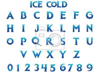 Sticker Ice Cold Alphabet - 3D Illustration