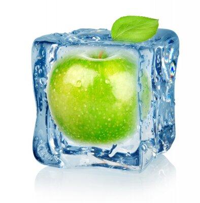 Ice Cube und Apfel