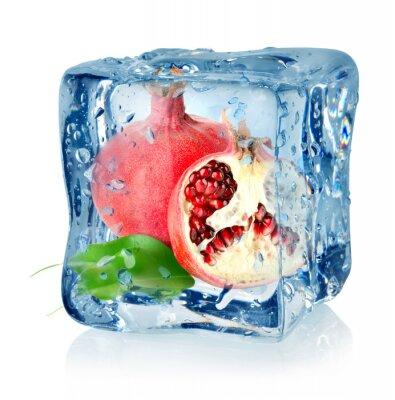 Ice Cube und Granatapfel