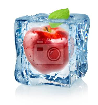 Ice Cube und roten Apfel