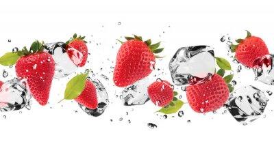 Sticker Ice Obst auf weißem Hintergrund