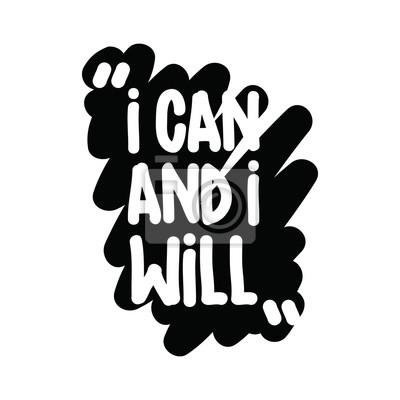 Ich kann und ich werde