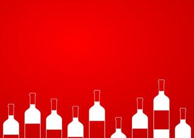 Sticker Icono Plan Botellas de Vino Sünde alinear sobre fondo degradado # 1