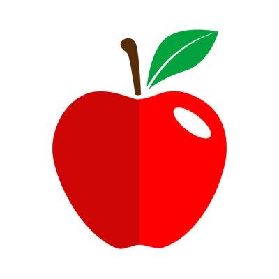 Sticker Icono plano manzana