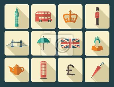 Icons auf ein Thema von England