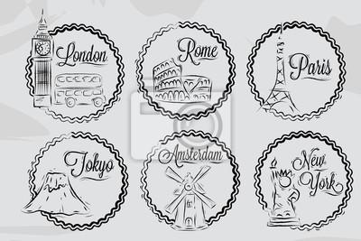 Icons mit Weltstädten