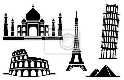 Icons von Baudenkmälern