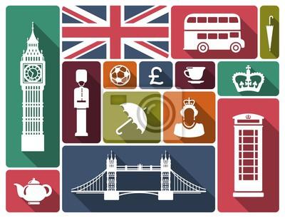 Icons zu einem Thema von England