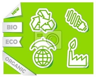 Ikonen der Erhaltung der Umwelt