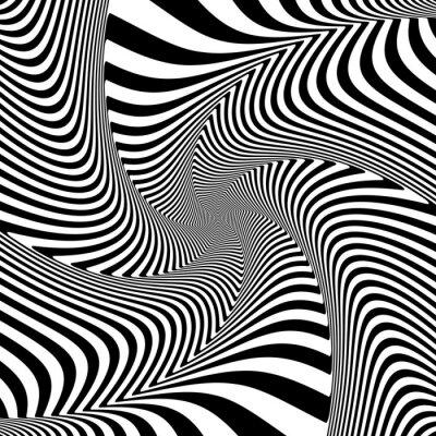 Sticker Illusion der Torsion Drehbewegung.