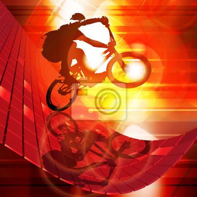 Illustration der BMX Radfahrer