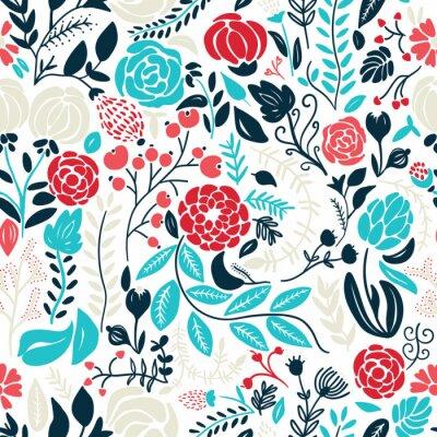 Sticker Illustration der schönen Hand gezeichneten Blumen
