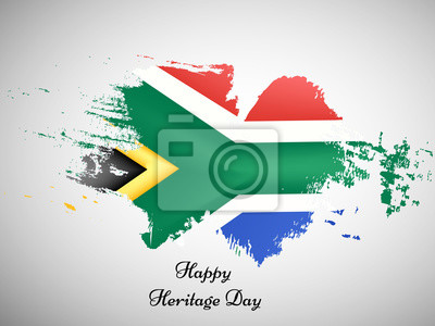 Sticker Illustration der Südafrika-Flagge für Erbe-Tag