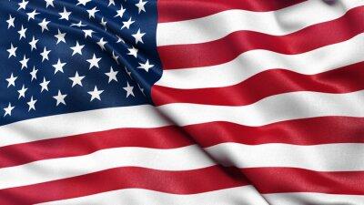 Sticker Illustration der USA Nationalflagge