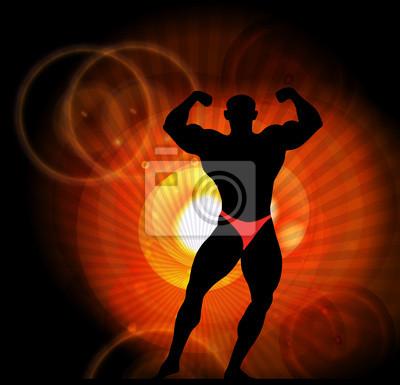 Illustration von bodyboulding Mann