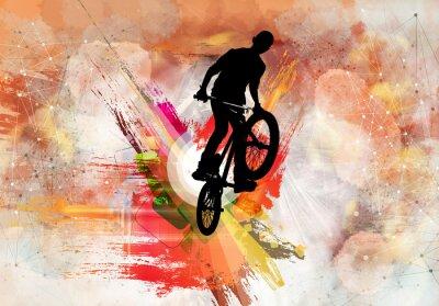 Sticker Illustration von Fahrradjumper