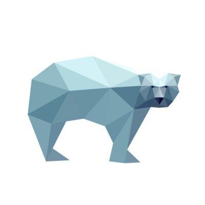 Sticker Illustration von polygonalen Bär