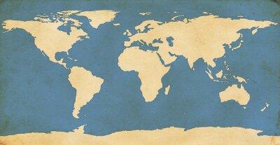 Sticker Im Alter von Weltkarte