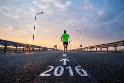 Sticker Im neuen Jahr 2016 laufen