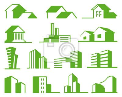 Immobilien-Symbole