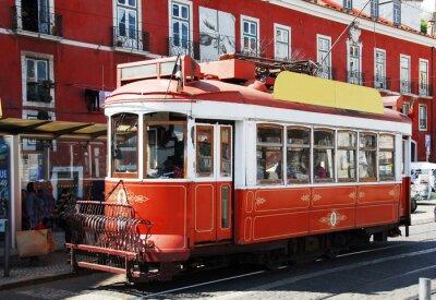 Sticker In Lissabon Straßenbahn