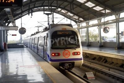 Sticker Indian modern metro train in Delhi