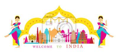 Indien Wahrzeichen mit Traditionelle Tänzerin