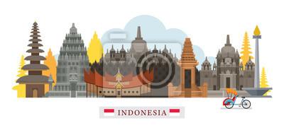 Indonesien Architektur Wahrzeichen Skyline, Stadtbild, Reise und Touristenattraktion