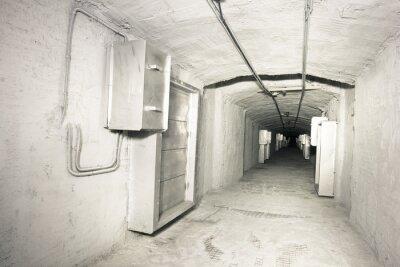 Sticker Industriellen Innenraum des Vantilationssystem Tunnel