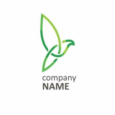 Infinity Vogel grüne Linie Logo.