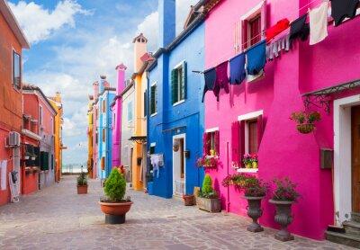 Sticker Insel Burano, Venedig, Italien
