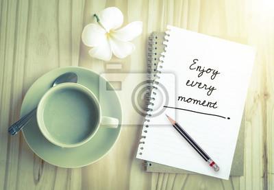 Inspiration Zitat auf Notebook mit Vintage-Filter