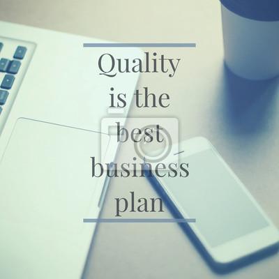 Inspirational Motivation Zitat über Unternehmen auf Smartphone und