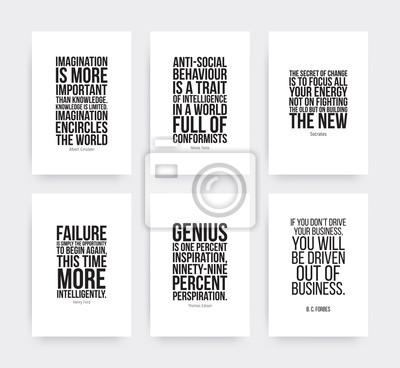 Inspirierend motivierende Zitate gesetzt