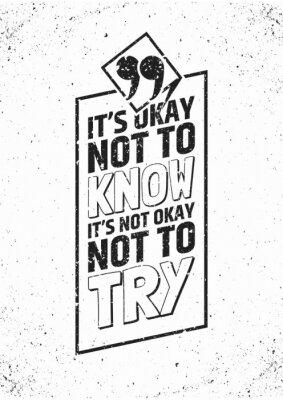 Sticker Inspirierend Zitat im Rahmen auf grungy Hintergrund. Abbildung.