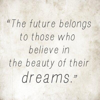 Inspirierend Zitat Worten von Eleanor Roosevelt auf altem Papier zurück