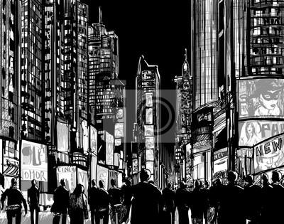 Interpretation des Times Square in New York