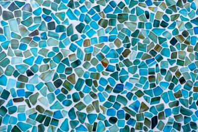 Sticker Irregular shaped Seas glass tile mosaic wall