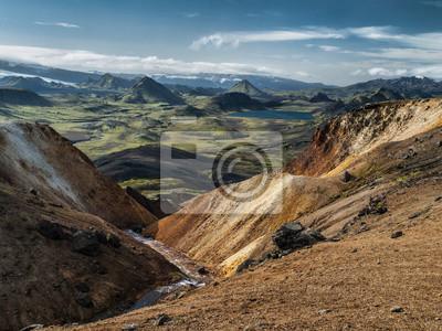 Sticker Isländische Landschaft rund Laugavegue trek