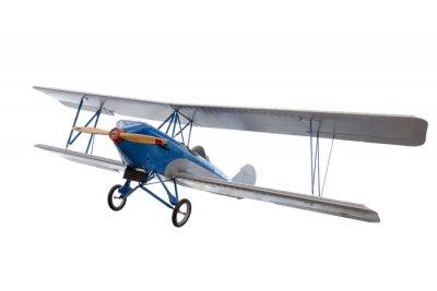 Sticker Isoliert Modell Flugzeug gegen Weiß