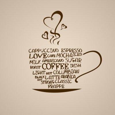 Sticker Isolierte Symbol der Kaffeetasse
