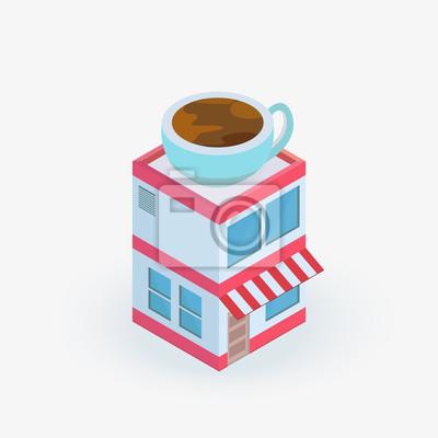 Isometrische Coffee shop