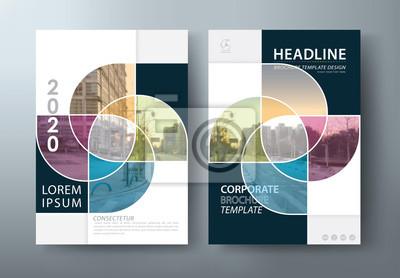 Sticker Jahresberichtbroschürenflieger-Designschablonenvektor, Broschüre, Darstellungsbuch-Abdeckungsschablonen, Plan in der Größe A4