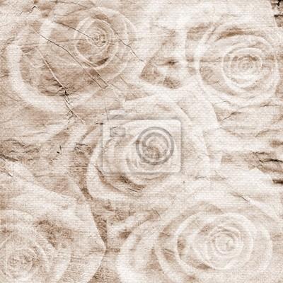 Jahrgang romantischen Hintergrund mit Rosen