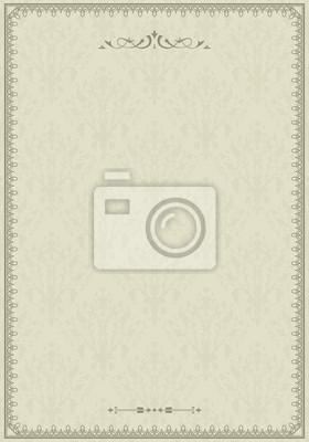 Jahrgang Zierrahmen auf Damaris Hintergrund, nahtlose Muster,