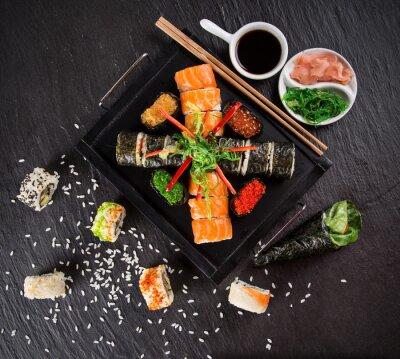 Sticker Japanese sushi set