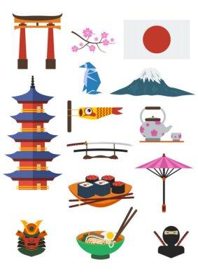 Sticker Japanische Kultur
