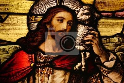 Sticker Jesus mit Lamm