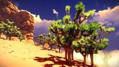 Sticker Joshua Bäume auf der Wüste